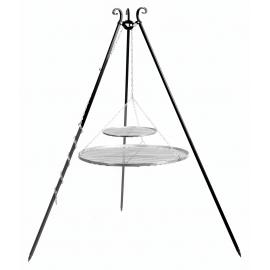 CookKing Driepoot 180cm met dubbel RVS Grillrooster Ø 70cm + 40cm