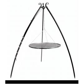 CookKing Driepoot 200 cm met dubbel stalen Grillrooster Ø 70cm + 40cm