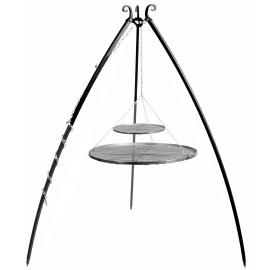 CookKing Driepoot 200cm met dubbel stalen Grillrooster Ø 70cm + Ø 40cm