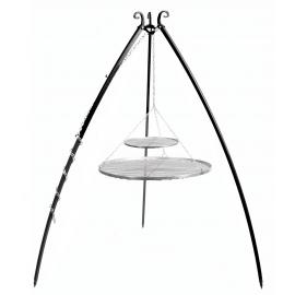 CookKing Driepoot 200cm met dubbel RVS Grillrooster Ø 70cm + Ø 40cm
