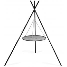 CookKing Driepoot 'Tipi' 220 cm met stalen Grillrooster Ø 80cm