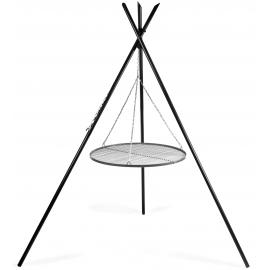 CookKing Driepoot 'Tipi' 220 cm met RVS Grillrooster Ø 70cm