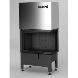 Inbouwhaard (tweezijdig) met liftdeur Heatro-55PH-zwart