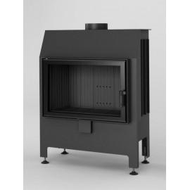 Inbouwhaard met draaideur Heatro-69-zwart