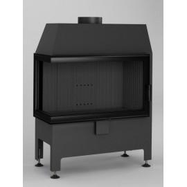 Inbouwhaard (tweezijdig) met draaideur Heatro-69L-zwart