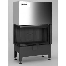 Inbouwhaard (tweezijdig) met liftdeur Heatro-69LH-zwart