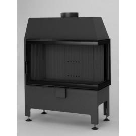 Inbouwhaard (tweezijdig) met draaideur Heatro-69P-zwart