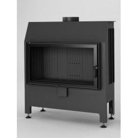 Inbouwhaard met draaideur Heatro-81-zwart