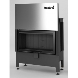 Inbouwhaard met liftdeur Heatro-81H-zwart