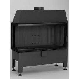 Inbouwhaard (tweezijdig) met draaideur Heatro-81L-zwart