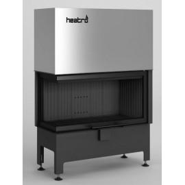 Inbouwhaard (tweezijdig) met liftdeur Heatro-81LH-zwart