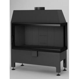 Inbouwhaard (tweezijdig) met draaideur Heatro-81P-zwart