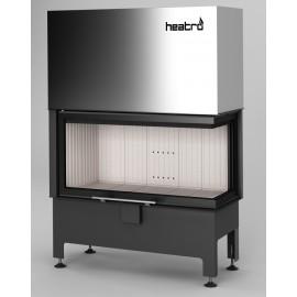 Inbouwhaard (tweezijdig) met liftdeur Heatro-81PH