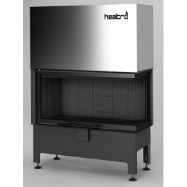 Inbouwhaard (tweezijdig) met liftdeur Heatro-81PH-zwart