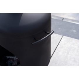 MOODMAKER XL: ZWART RVS TUINHAARD, TERRASHAARD (INCL. 1,5M. ROOKKANAAL)