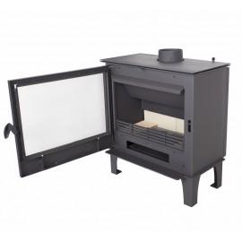 Houtkachel TSH met boiler (6,5kW vuur en 13,5kW water)