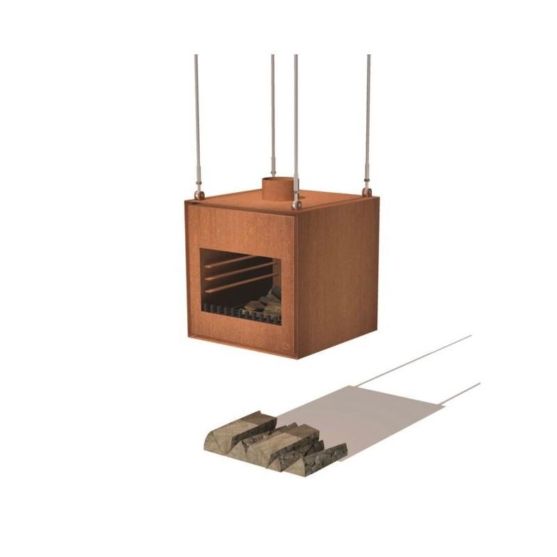 BURNI buitenkachel THOR cortenstaal (hangend)