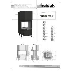 inbouwhaard (doorkijkhaard) draaideur Prisma-EFDH