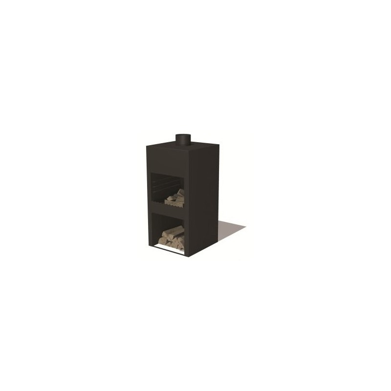 BURNI buitenkachel STIG L (zwart)