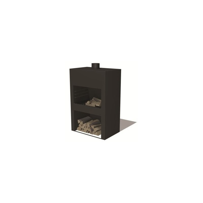 BURNI buitenkachel STIG XL (zwart)